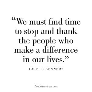 kennedy quote. thank you