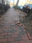 sidewalk. bricks